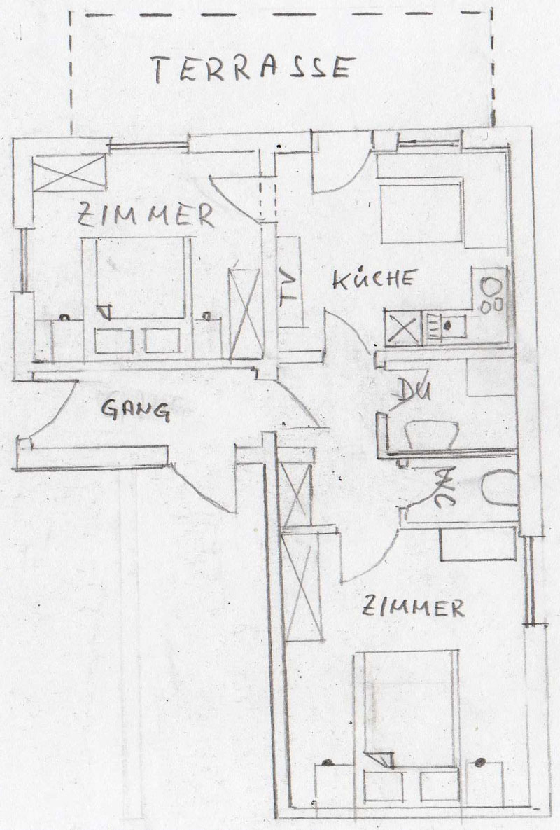 ferienwohnung f r 2 bis 4 personen im haus julia in nauders am reschenpass. Black Bedroom Furniture Sets. Home Design Ideas